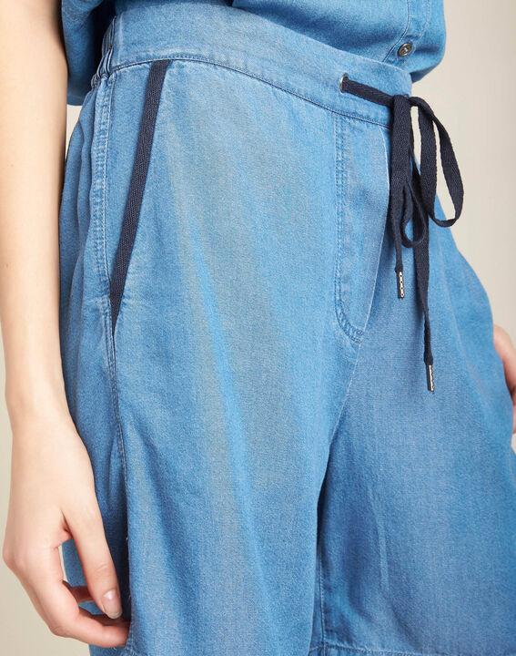 Short fluide jean à cordon Jasmin PhotoZ | 1-2-3