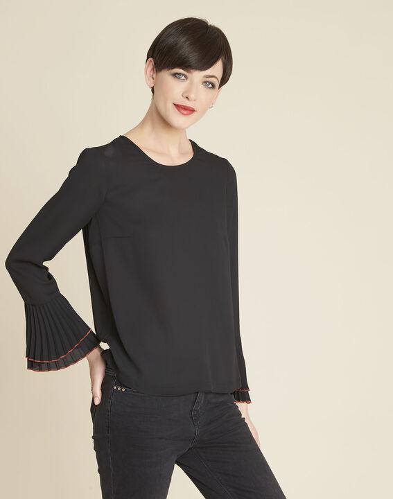 Schwarze Bluse mit Schmuckdetails Caroline PhotoZ | 1-2-3