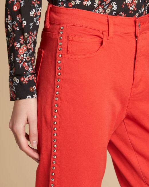 Vendôme red jeans with studded detailing (1) - 1-2-3