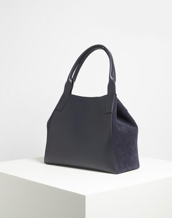 Doddy dual-fabric navy blue bag navy.