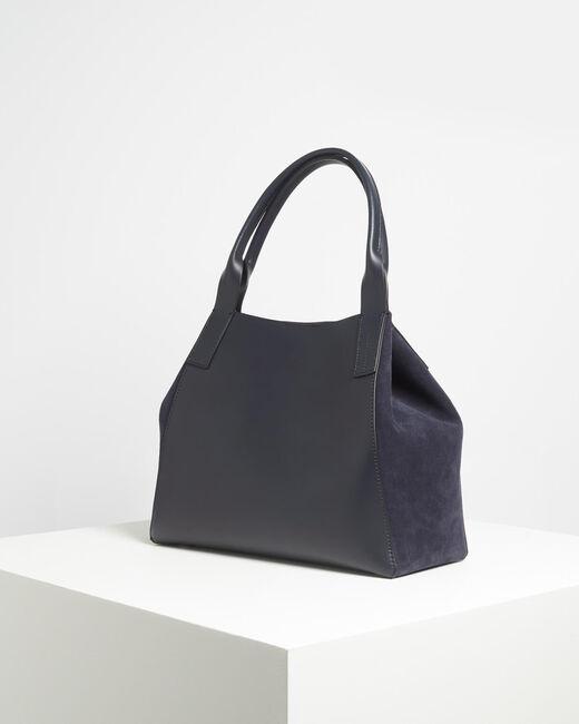 Marineblauwe tas uit twee materialen Doddy (2) - 37653