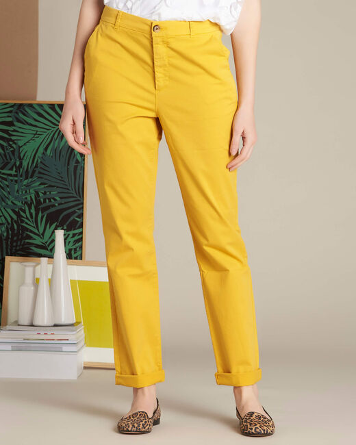 Victoria yellow chinos with turn-ups (2) - 1-2-3
