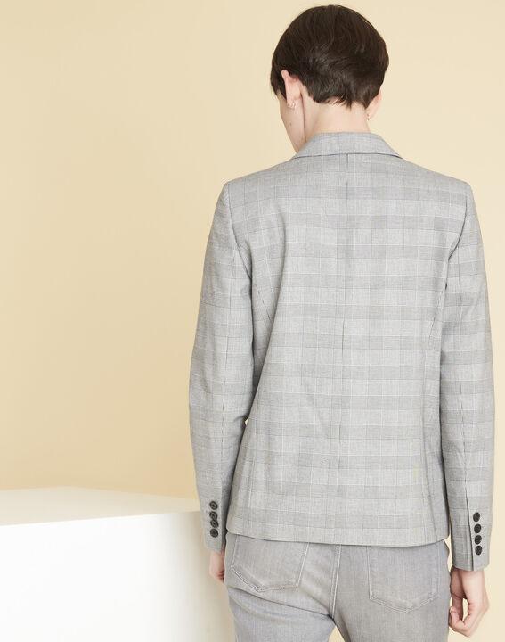 Veste grise motif Prince de Galles Demoiselle (4) - 1-2-3