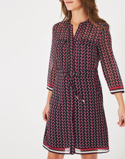 Andréa fuchsia printed dress (3) - 1-2-3