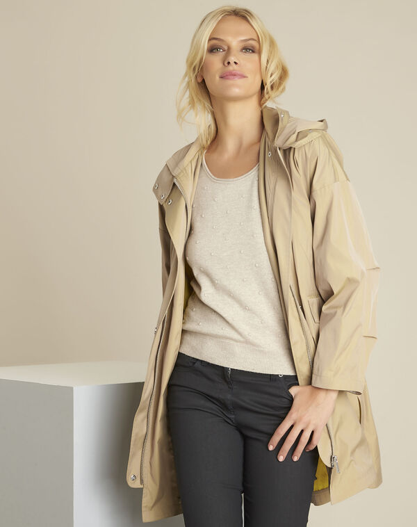 Emilie camel hooded parka (1) - 1-2-3