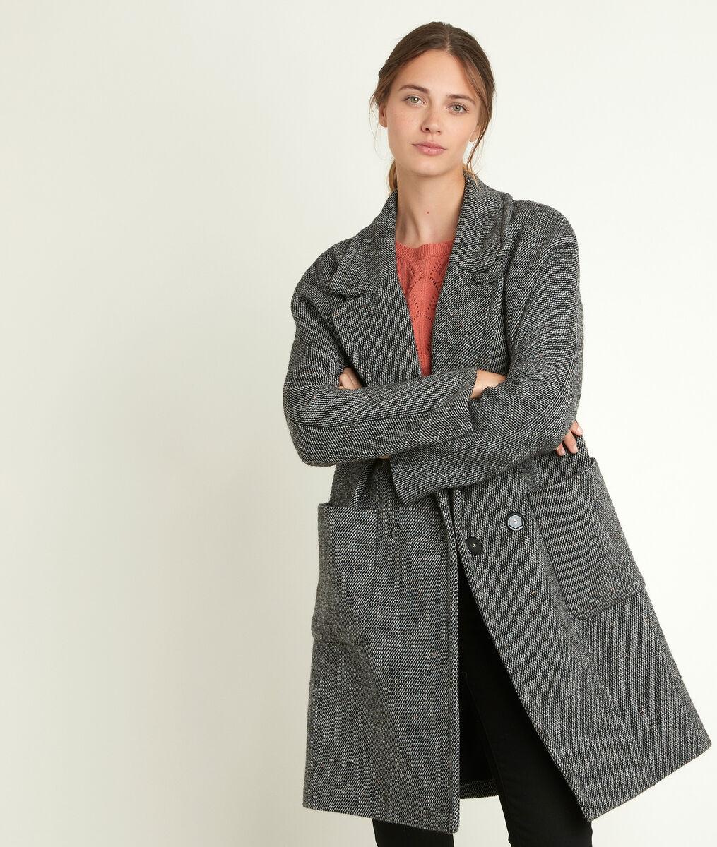 Manteau en laine fantaisie Oki PhotoZ | 1-2-3