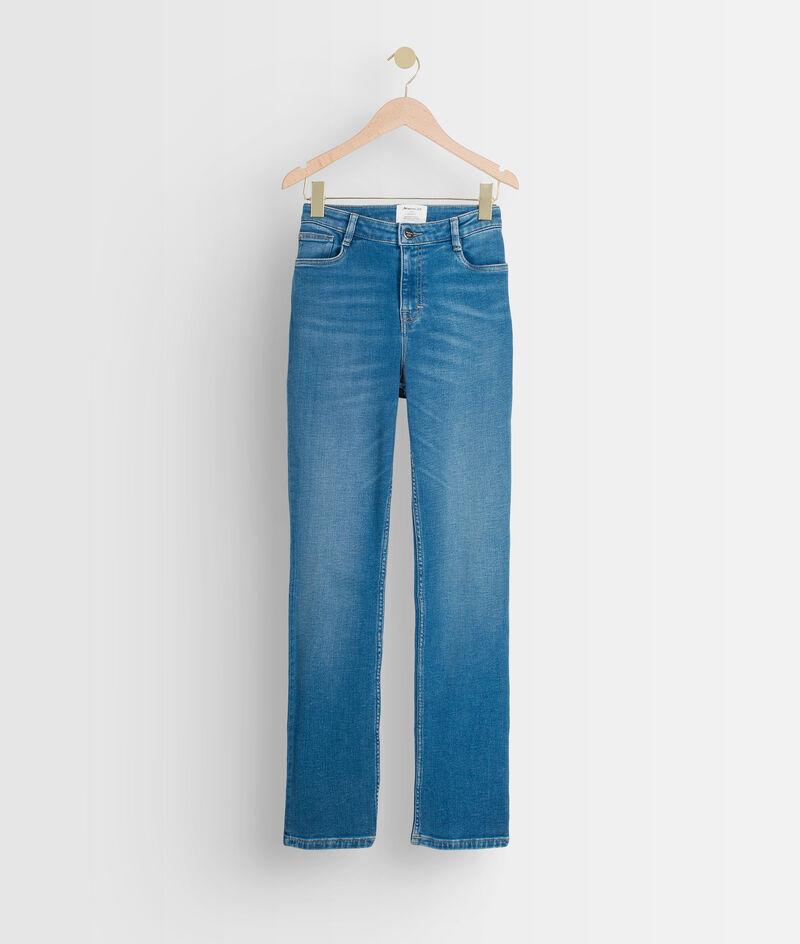 Straight-fit jeans van biologisch en recycled stone used katoen Sonia PhotoZ | 1-2-3