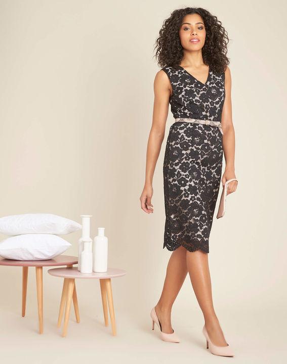 Istory black straight-cut lace dress (3) - 1-2-3