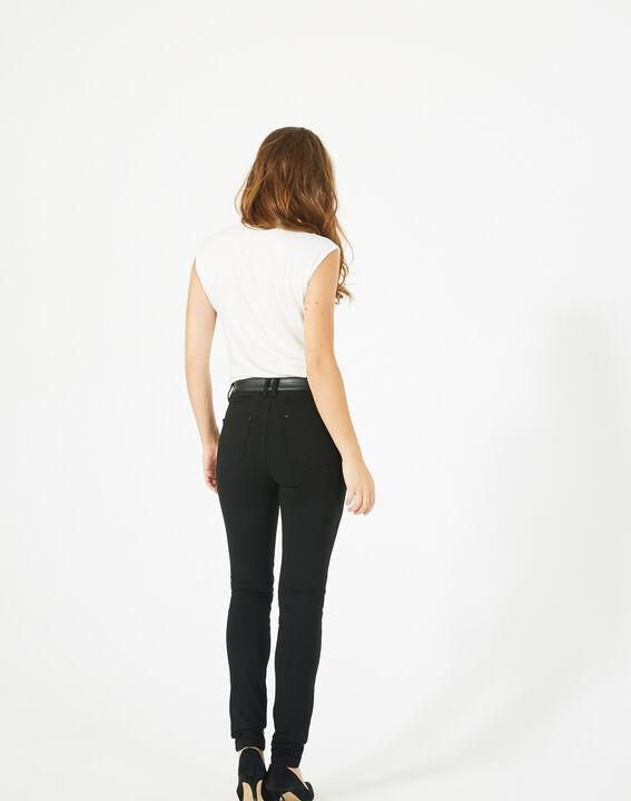 Pantalon noir slim milano faux cuir Kassy (5) - 1-2-3