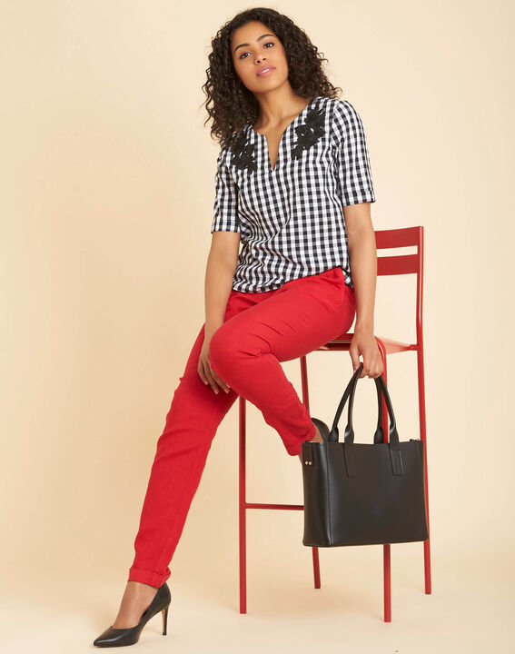 Joris red linen trousers (2) - 1-2-3