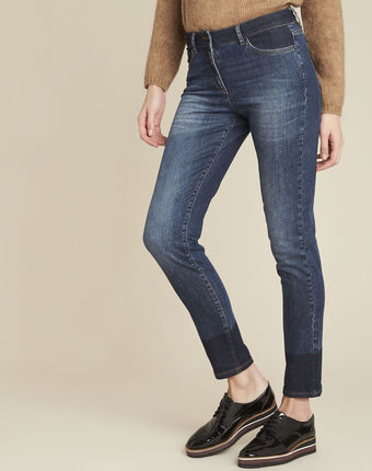 Molly navy slim-cut bi-colour jeans blue.