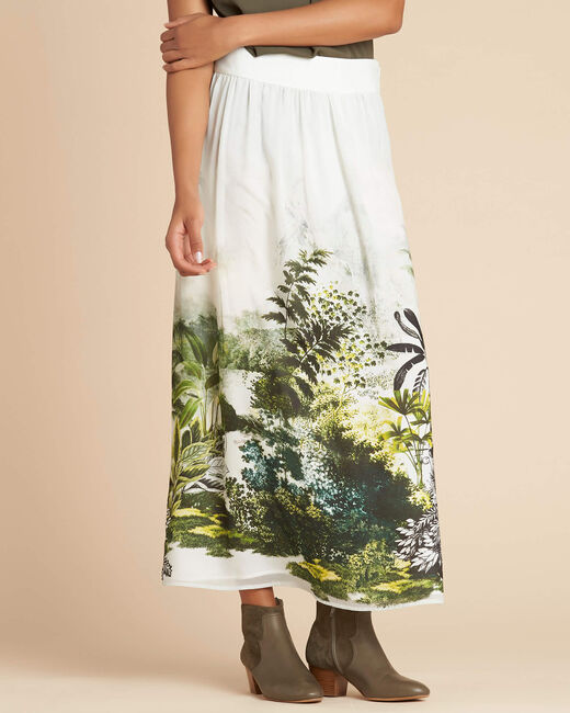 Lucius long jungle print skirt (2) - 1-2-3