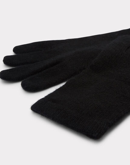 Schwarze Kaschmir-Handschuhe Tulipe (2) - 1-2-3
