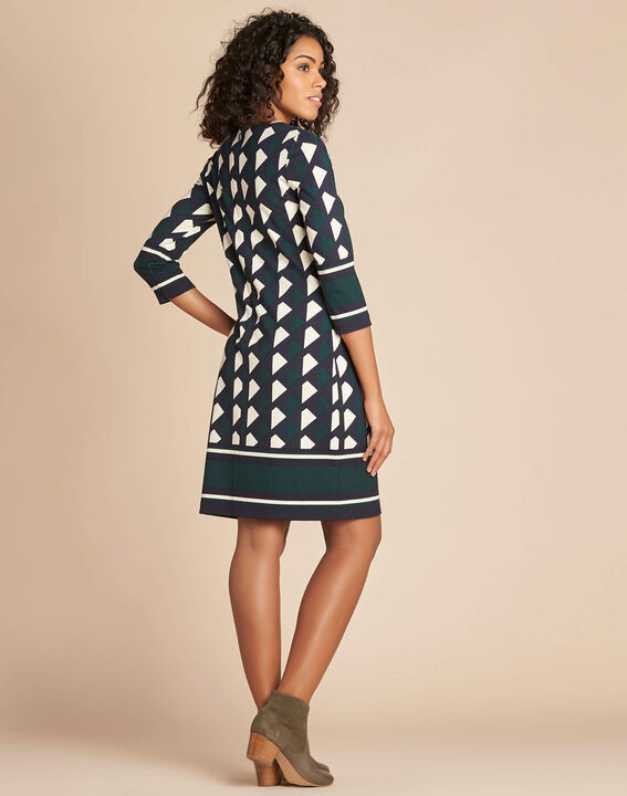 Delila pine green graphic print dress (4) - 1-2-3