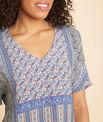 Romy blue printed blouse PhotoZ | 1-2-3