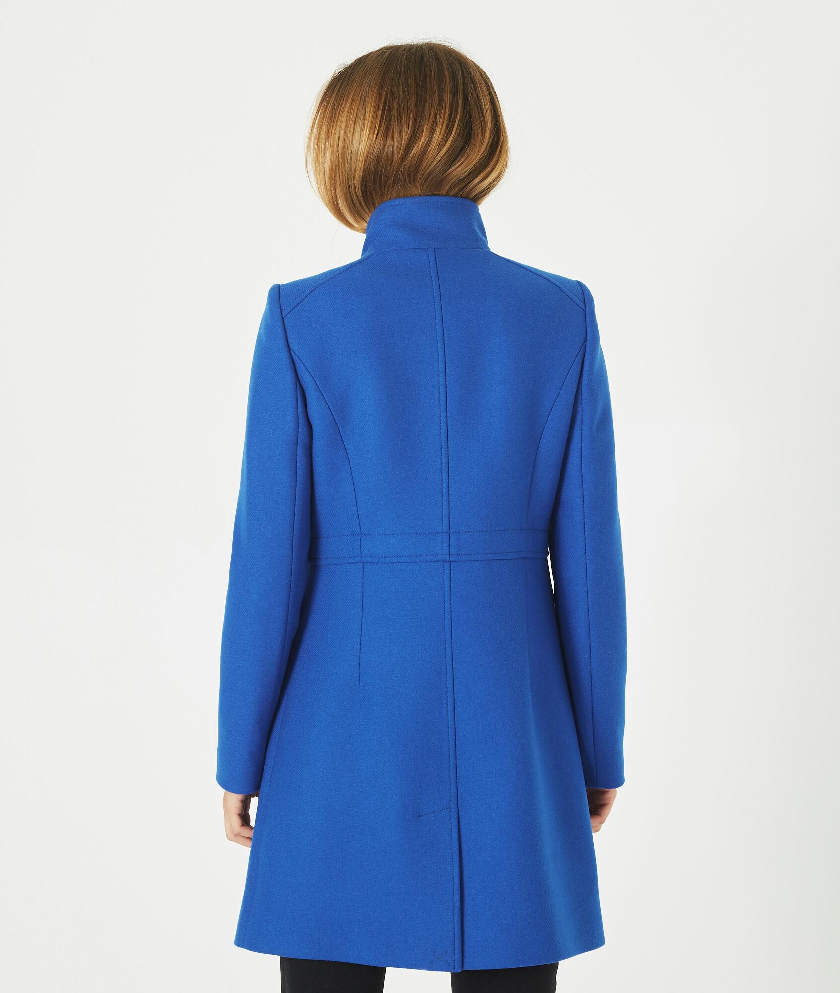 Jasmin 123 Montant Manteau En Mélangée Laine Bleu Col qYqzH f197a008abe