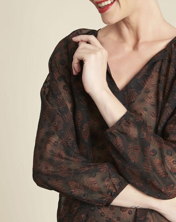 Zwarte blouse van kant met uitsparingen Constantine (2) - 37653