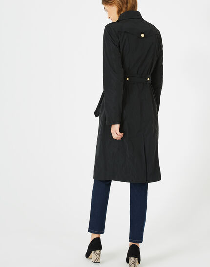 Jessy mid-length black trench coat (5) - 1-2-3