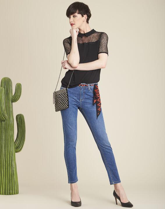 Vendôme slim-cut indigo jeans with zipped detailing (2) - 1-2-3