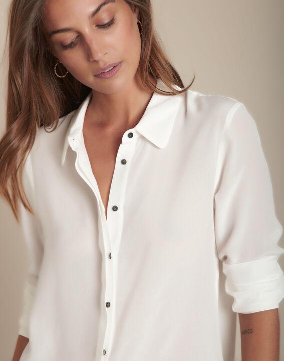 Ecru zijden hemd Maelle PhotoZ | 1-2-3