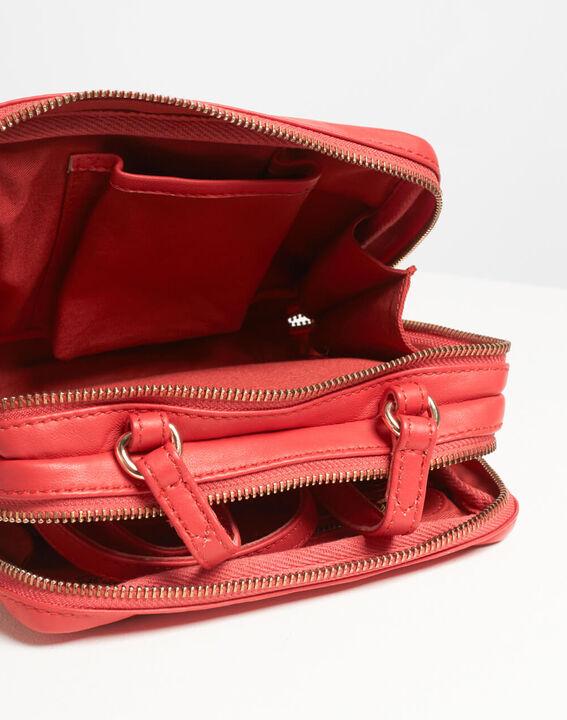 Rote Umhängetasche mit goldenen Reißverschlüssen Dolly (5) - 1-2-3