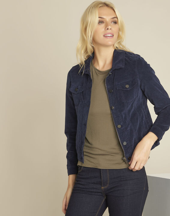 Clem navy velvet jacket PhotoZ | 1-2-3