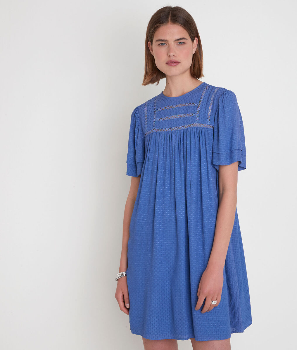 Robe ample avec dentelle bleue Sarah PhotoZ   1-2-3