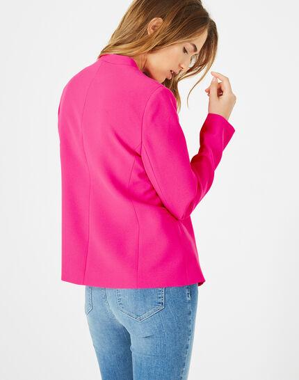Veste rose fluo en crêpe Clara (5) - 1-2-3