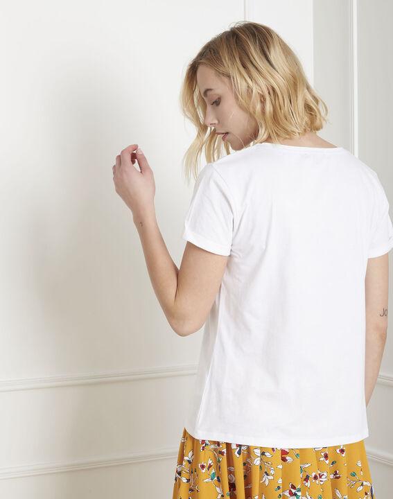 Tee-shirt blanc bonjour Pleasure (4) - Maison 123