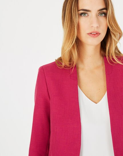 Claire fuchsia tailored jacket (3) - 1-2-3