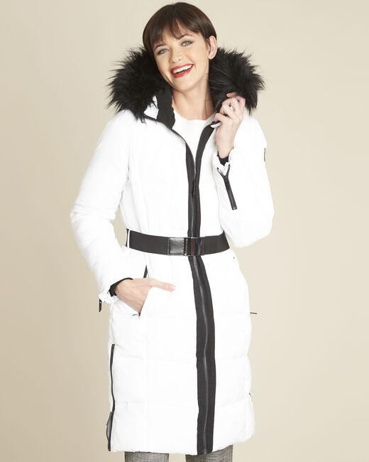 Doudoune blanche longue capuche Pipa (2) - 1-2-3