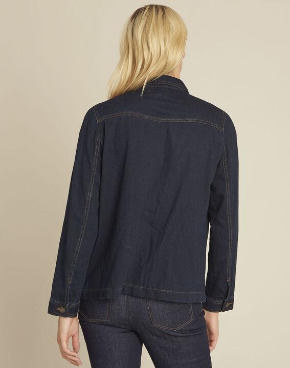 Veste en jean poches plaquées en coton Smile (4) - 1-2-3
