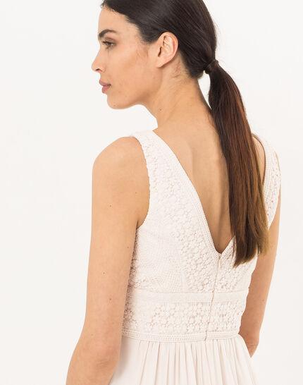 Puderfarbenes schwungvolles Kleid Freedom (4) - 1-2-3