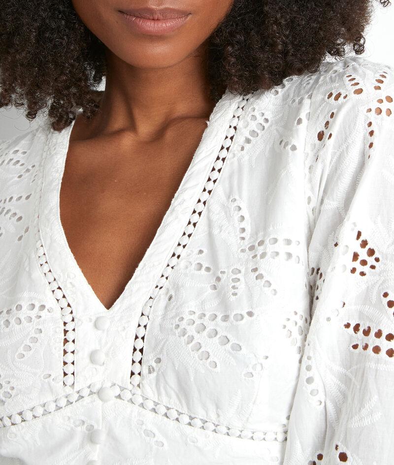 Witte lange jurk met borduurwerk Catalia PhotoZ | 1-2-3