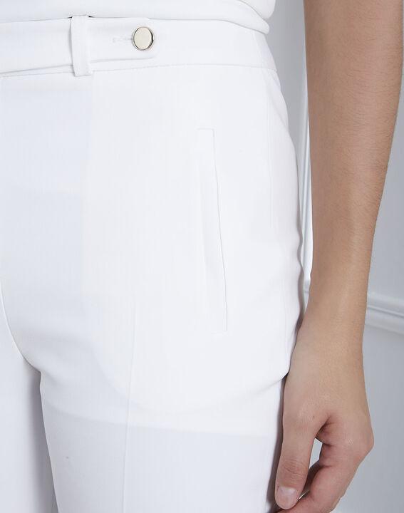 Pantalon blanc slim microfibre Lara (4) - Maison 123