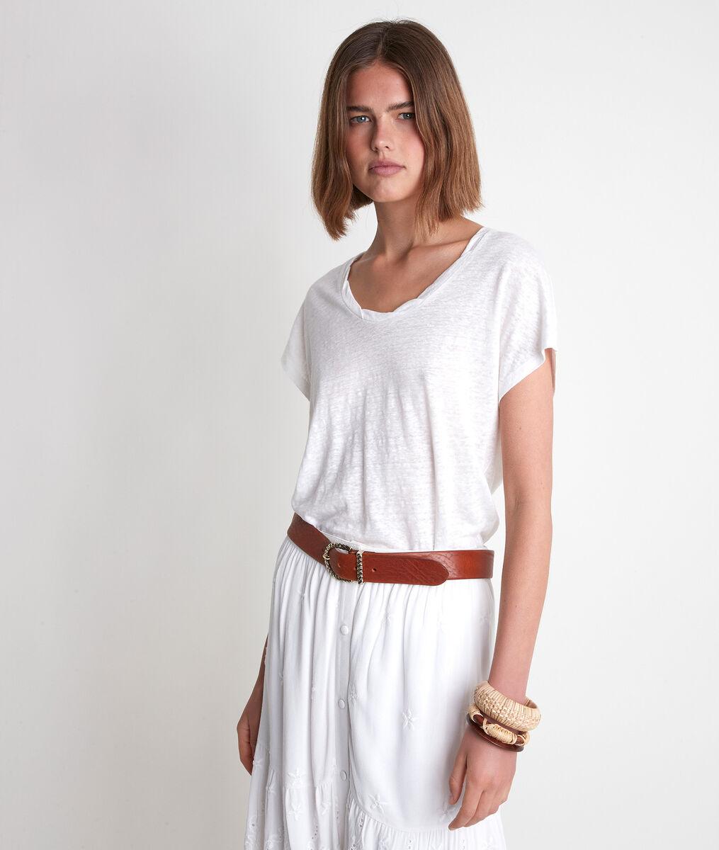 Tee-shirt en lin  blanc Icool  PhotoZ | 1-2-3