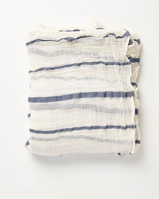 Foulard bleu à rayures Arry (1) - 1-2-3