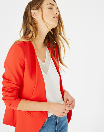 Maite red jacket with tailored collar (2) - 1-2-3