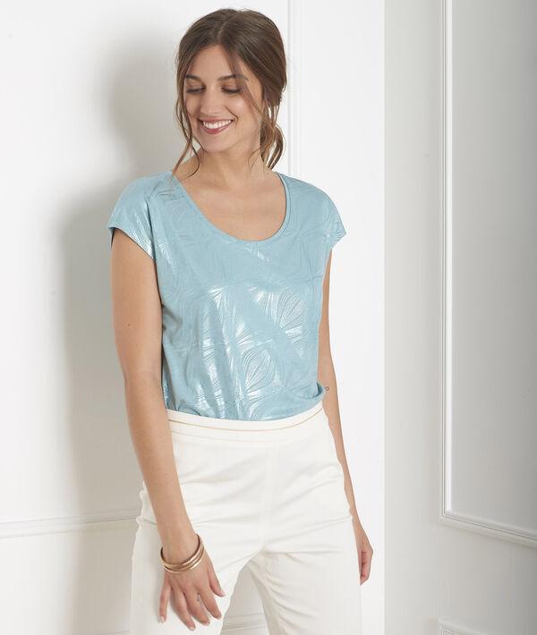 Tee-shirt bleu imprimé brillant Party PhotoZ | 1-2-3