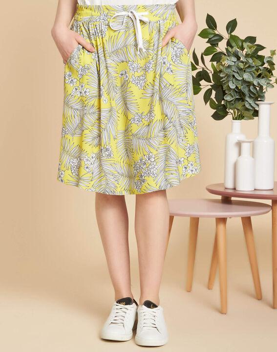 Lutin yellow printed skirt (3) - 1-2-3