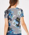 Tee-shirt rayé imprimé fleurs Botanique PhotoZ | 1-2-3