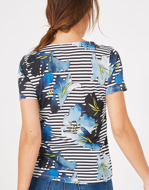 Botanique printed floral striped T-shirt (5) - 1-2-3