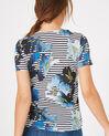 Tee-shirt rayé imprimé fleurs Botanique (5) - 1-2-3