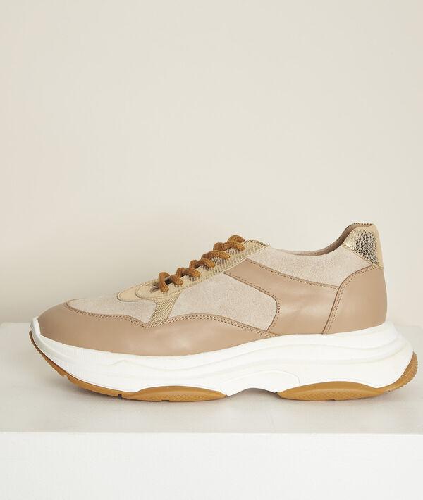 Plateau-Sneaker aus Leder Nina PhotoZ | 1-2-3