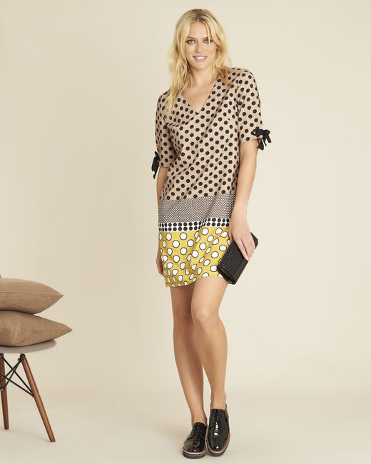Dakota yellow polka dot dress (1) - 1-2-3