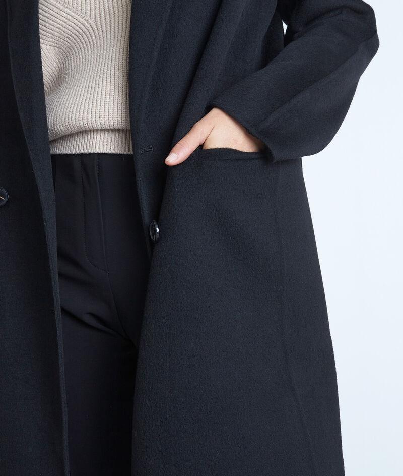 Manteau en laine texturé noir Lina PhotoZ | 1-2-3