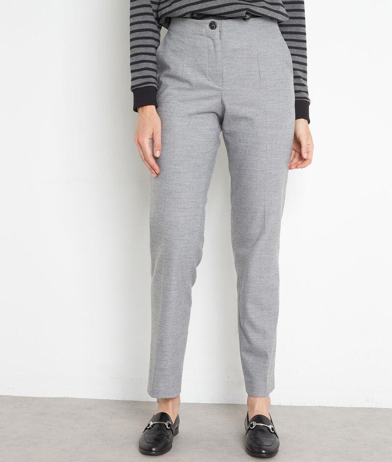 Pantalon de tailleur cigarette gris Dahlia PhotoZ   1-2-3
