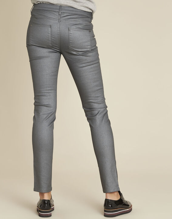 Jean gris slim enduit métallisé Vendome (4) - 1-2-3