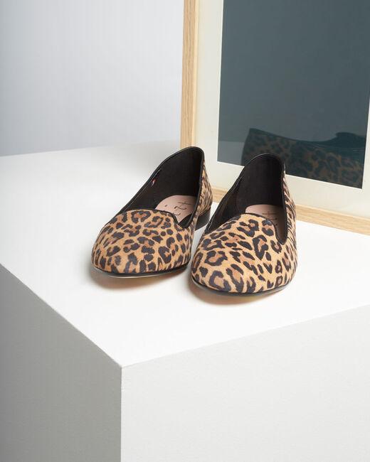 Kim leather leopard print ballerina pumps (2) - 1-2-3