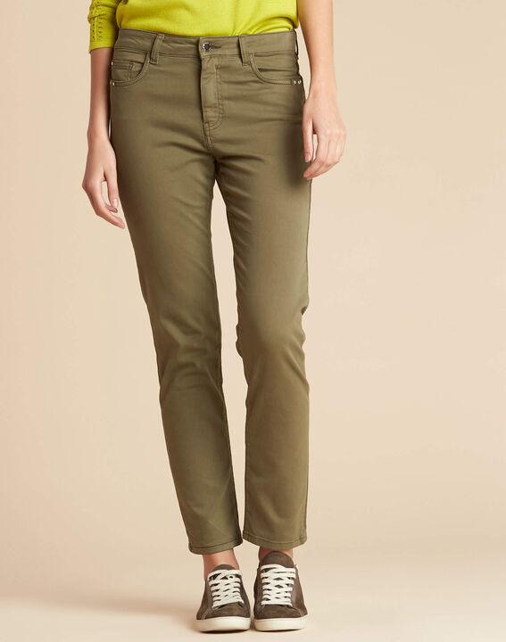 Khakifarbene Slim-Fit-Jeans normale Leibhöhe Vendome (3) - 1-2-3